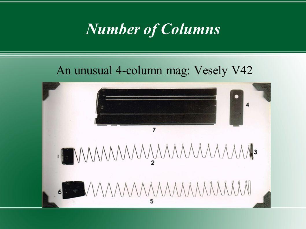 An unusual 4-column mag: Vesely V42