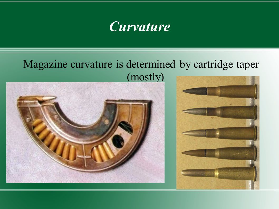 Magazine curvature is determined by cartridge taper (mostly)