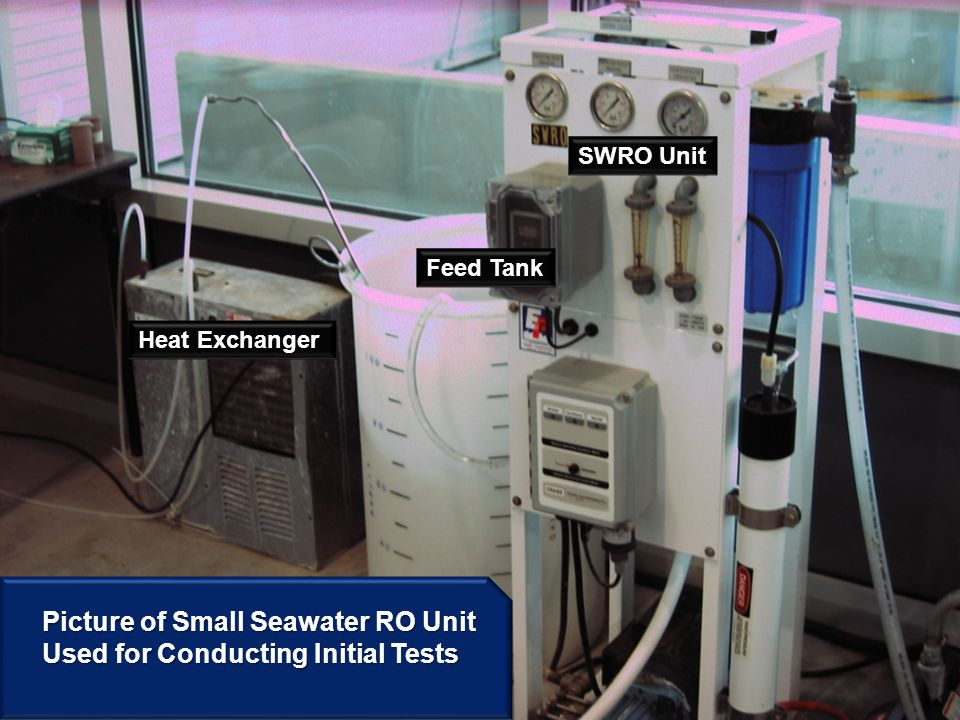 Picture of Small Seawater RO Unit Used for Conducting Initial Tests