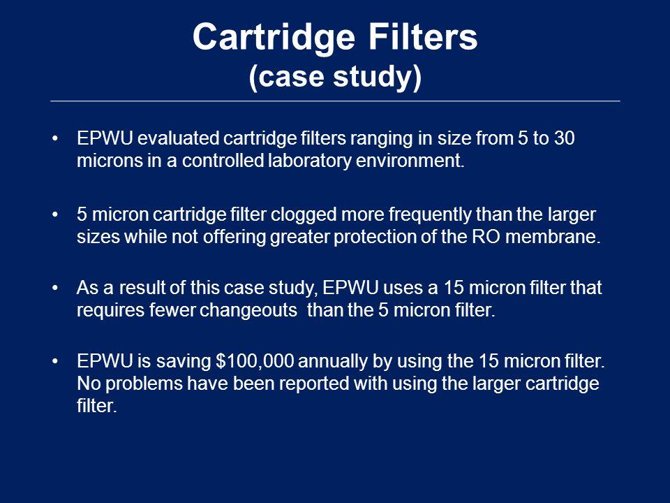 Cartridge Filters (case study)