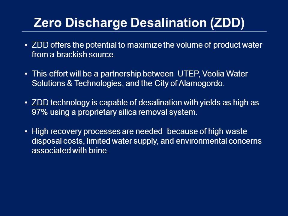 Zero Discharge Desalination (ZDD)