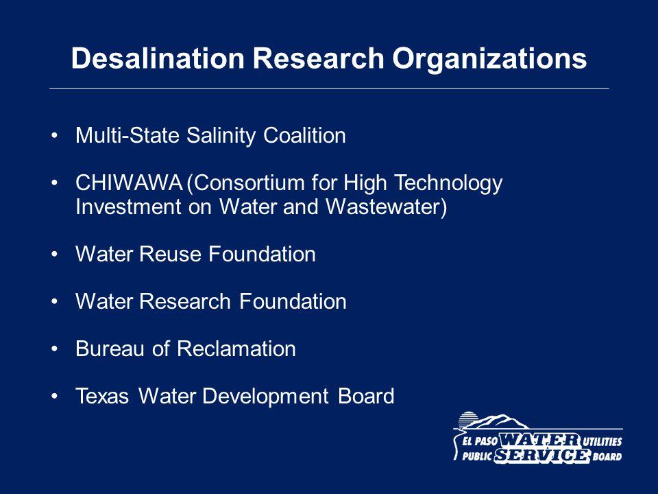 Desalination Research Organizations