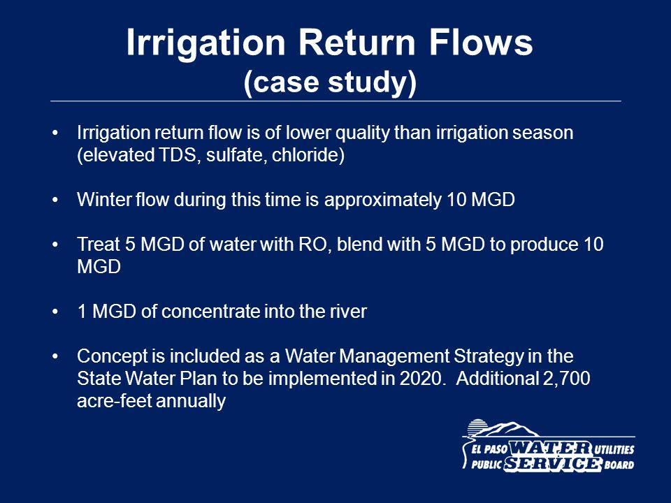 Irrigation Return Flows (case study)