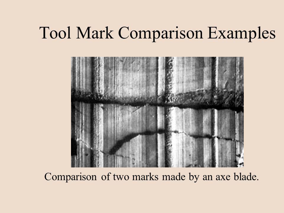 Tool Mark Comparison Examples