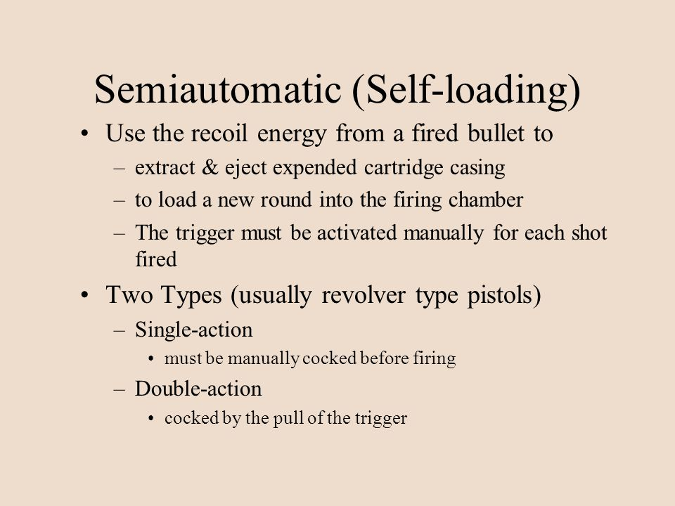 Semiautomatic (Self-loading)