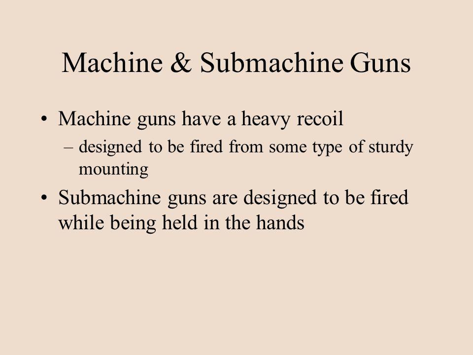 Machine & Submachine Guns