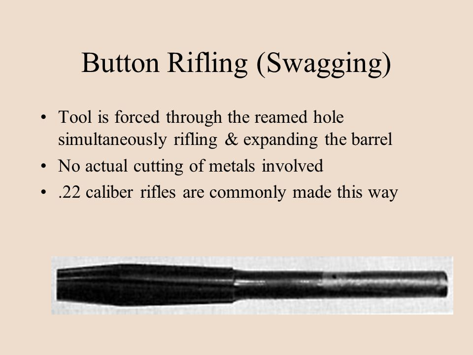 Button Rifling (Swagging)