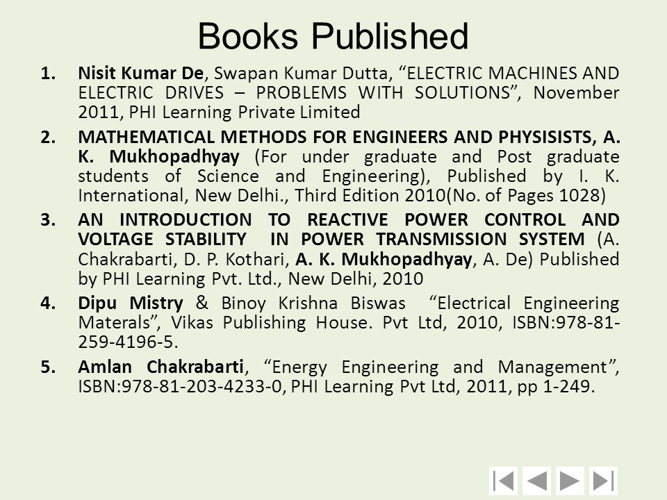 Books Published