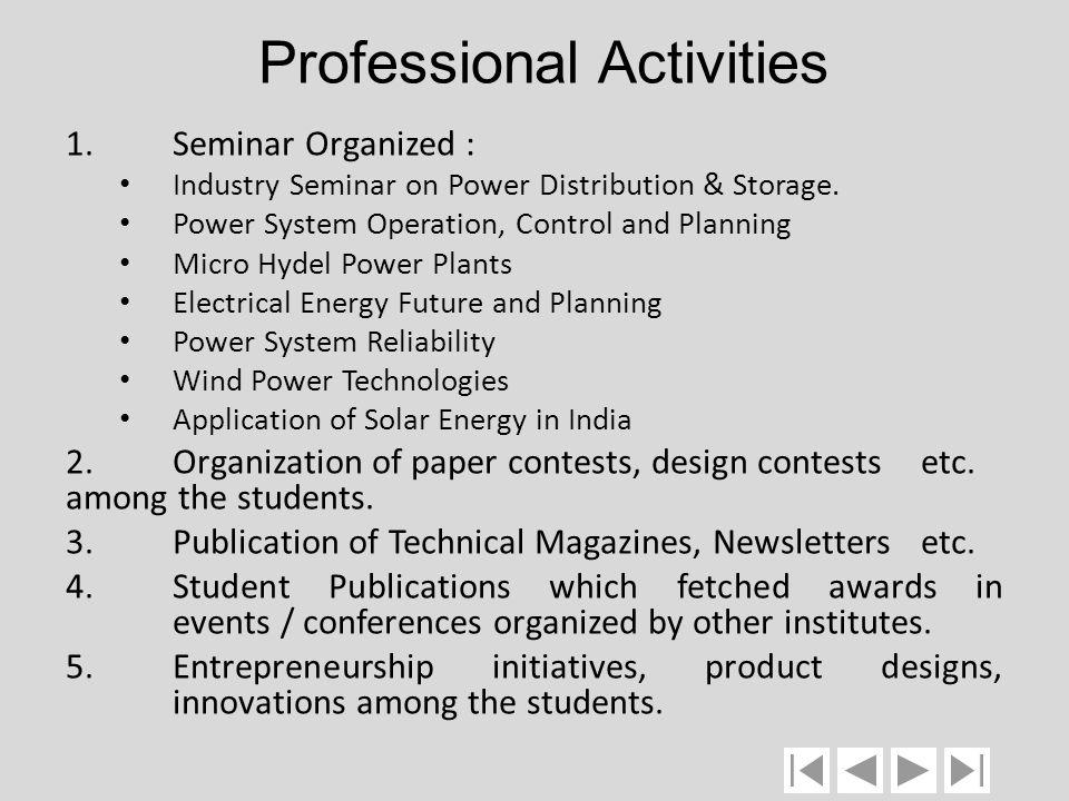 Professional Activities
