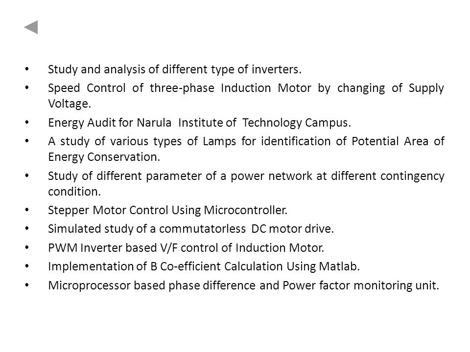 Study and analysis of different type of inverters.