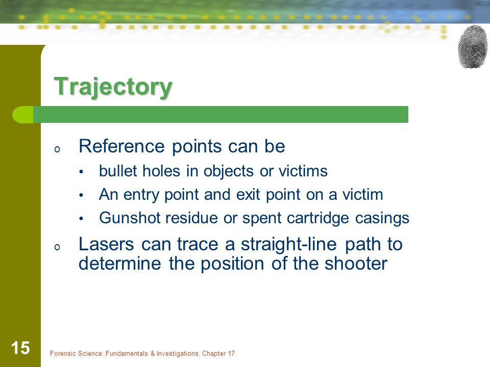 Trajectory Reference points can be