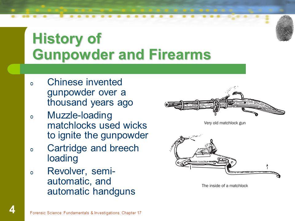 History of Gunpowder and Firearms