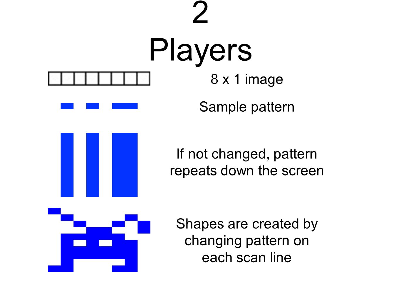 2 Players 8 x 1 image Sample pattern