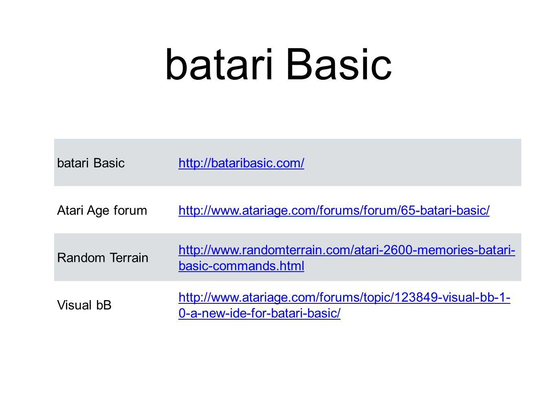 batari Basic batari Basic http://bataribasic.com/ Atari Age forum
