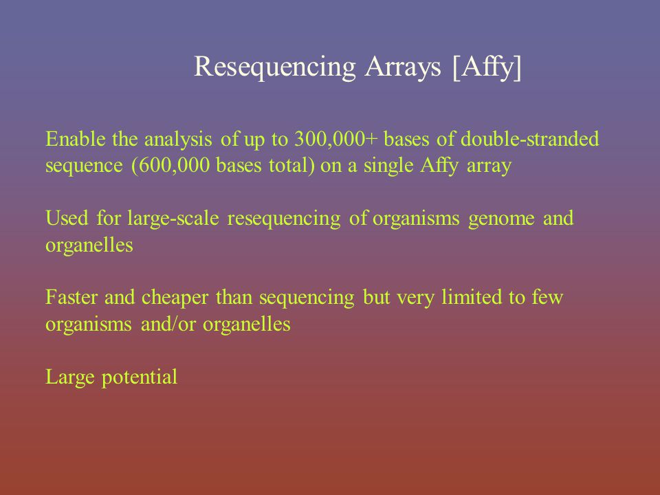 Resequencing Arrays [Affy]