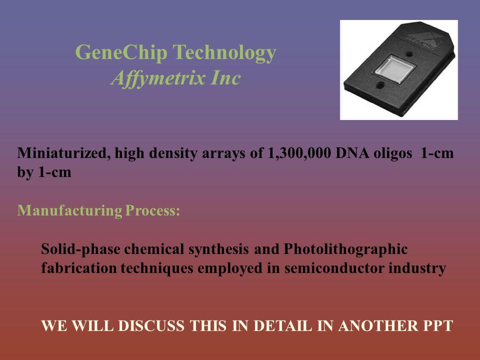 GeneChip Technology Affymetrix Inc