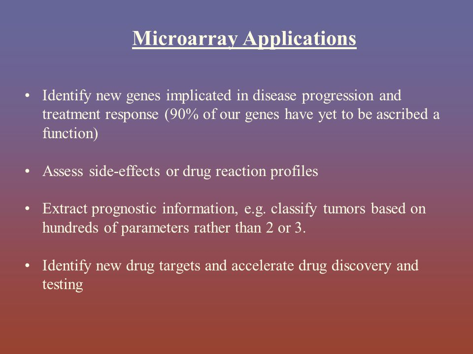 Microarray Applications