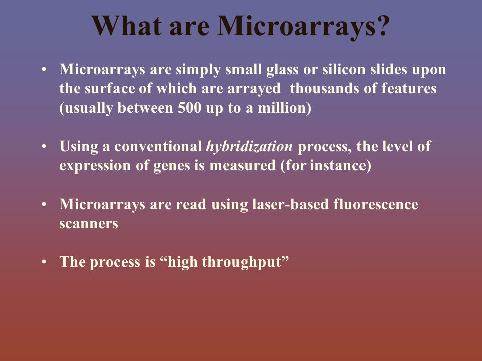 What are Microarrays