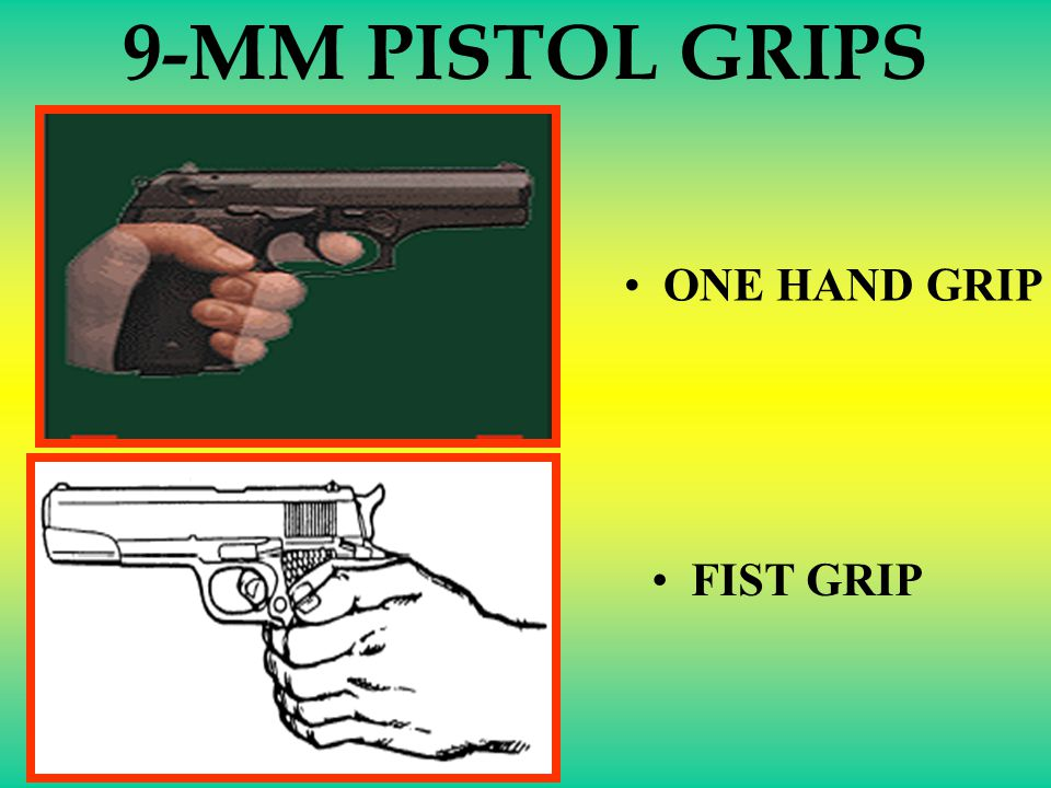 9-MM PISTOL GRIPS ONE HAND GRIP FIST GRIP