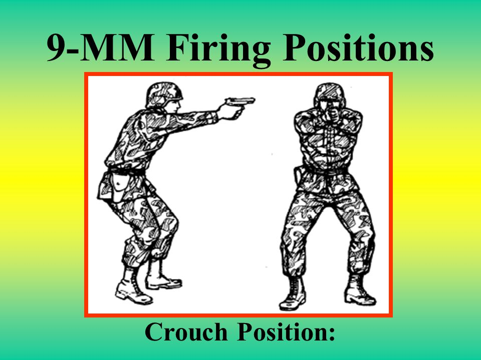 9-MM Firing Positions Crouch Position: