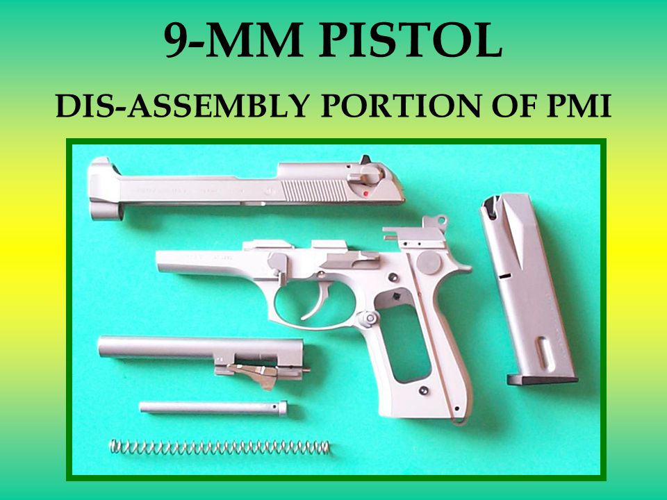 DIS-ASSEMBLY PORTION OF PMI