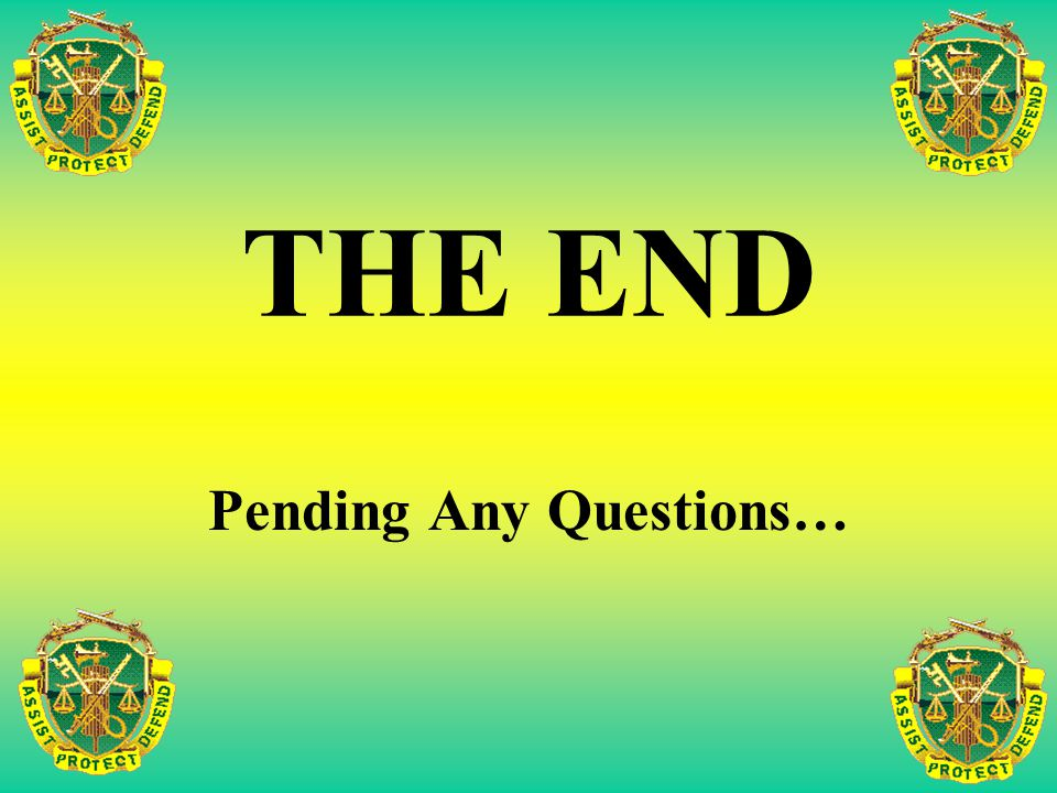 Pending Any Questions…