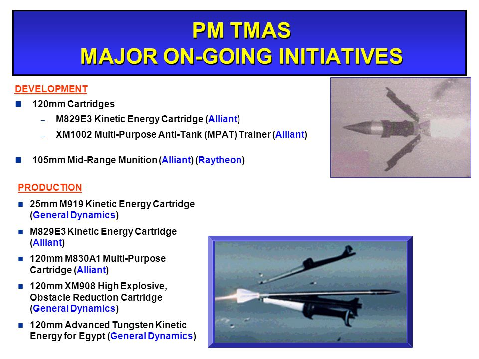 PM TMAS MAJOR ON-GOING INITIATIVES