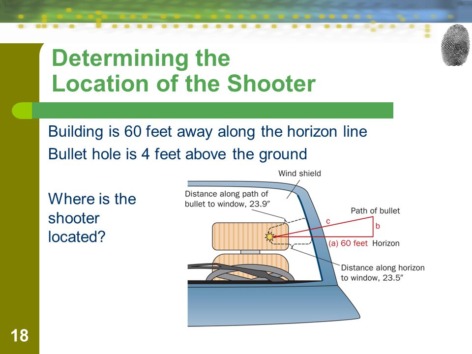 Determining the Location of the Shooter