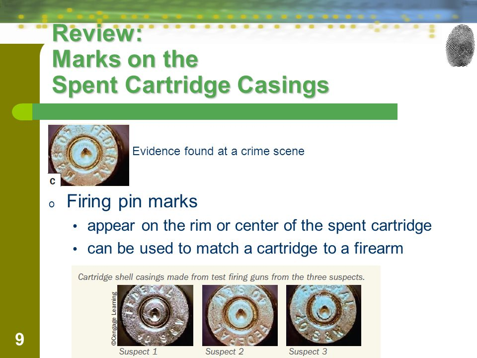 Review: Marks on the Spent Cartridge Casings