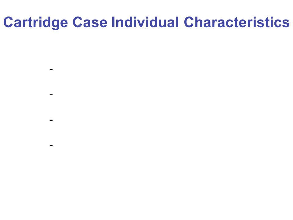 Cartridge Case Individual Characteristics