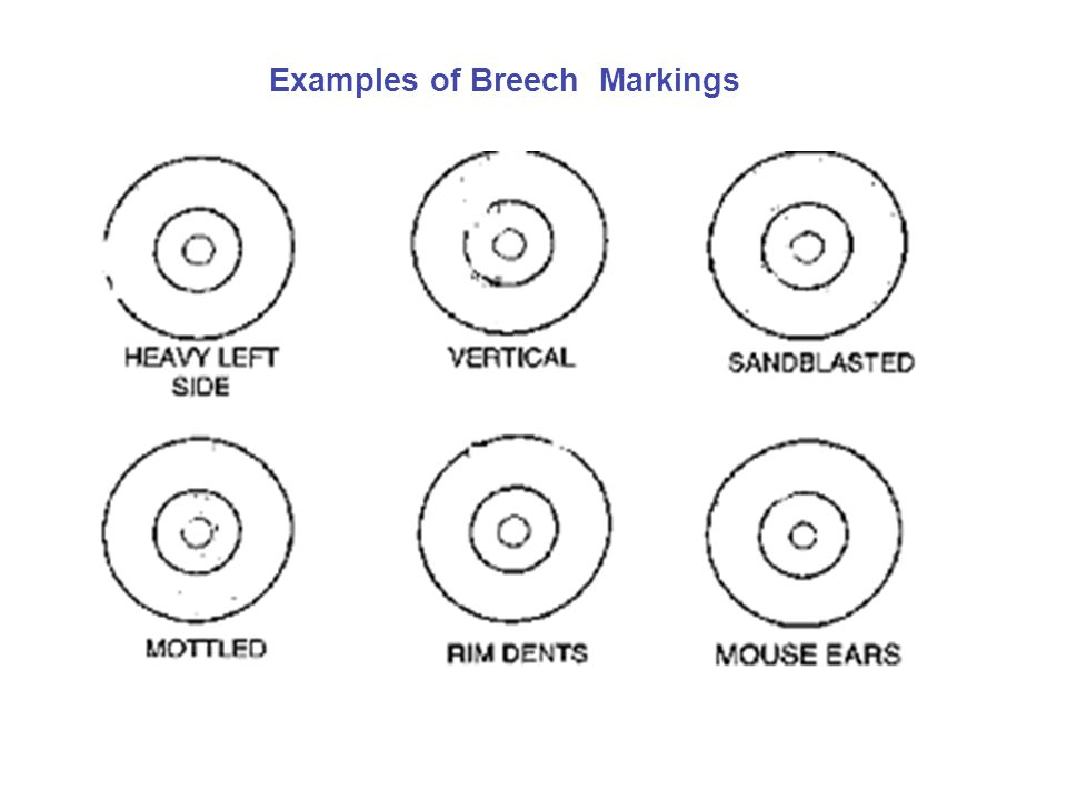 Examples of Breech Markings