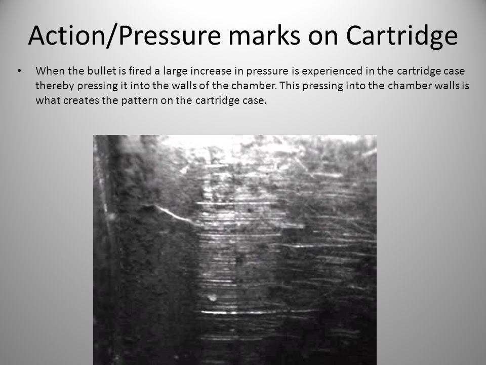 Action/Pressure marks on Cartridge