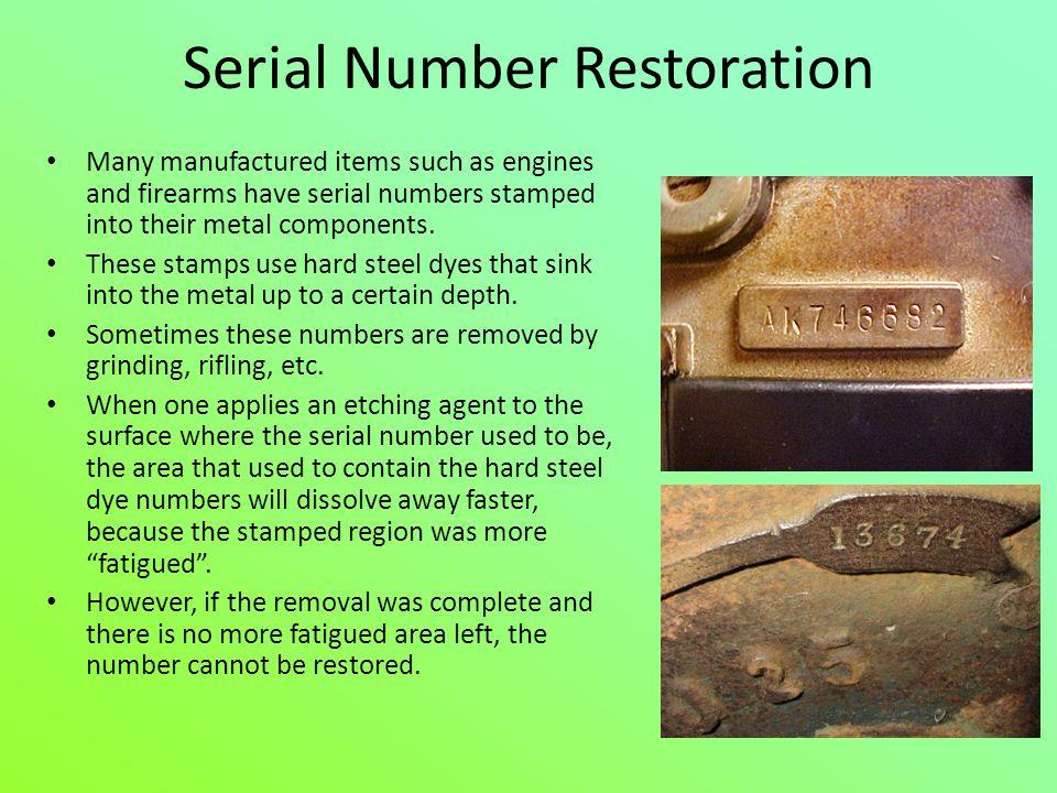 Serial Number Restoration