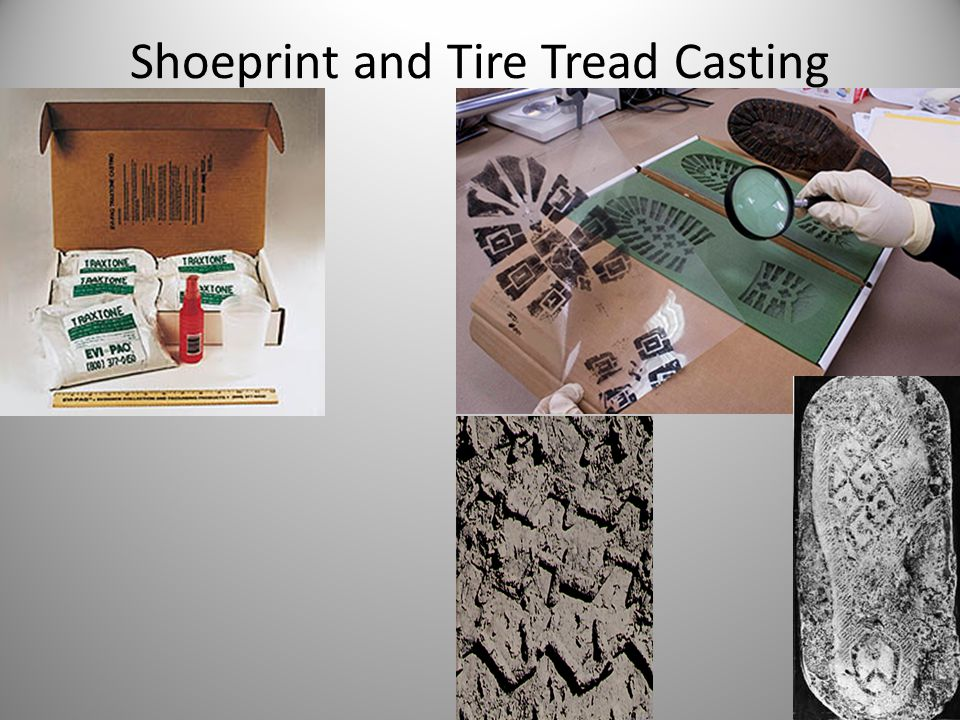 Shoeprint and Tire Tread Casting