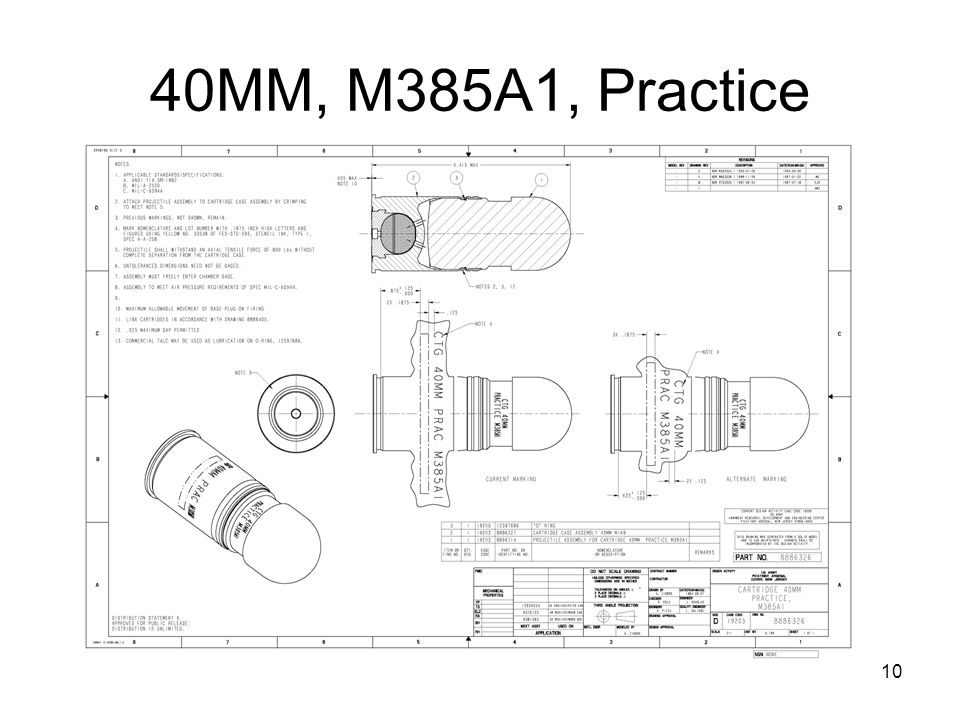 40MM, M385A1, Practice