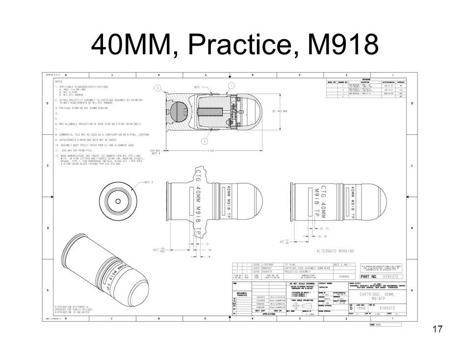 40MM, Practice, M918
