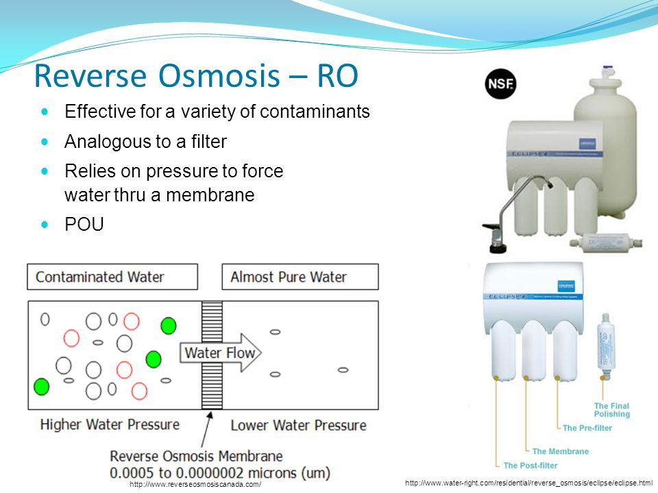 Reverse Osmosis – RO Effective for a variety of contaminants