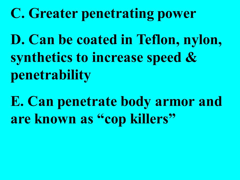 C. Greater penetrating power