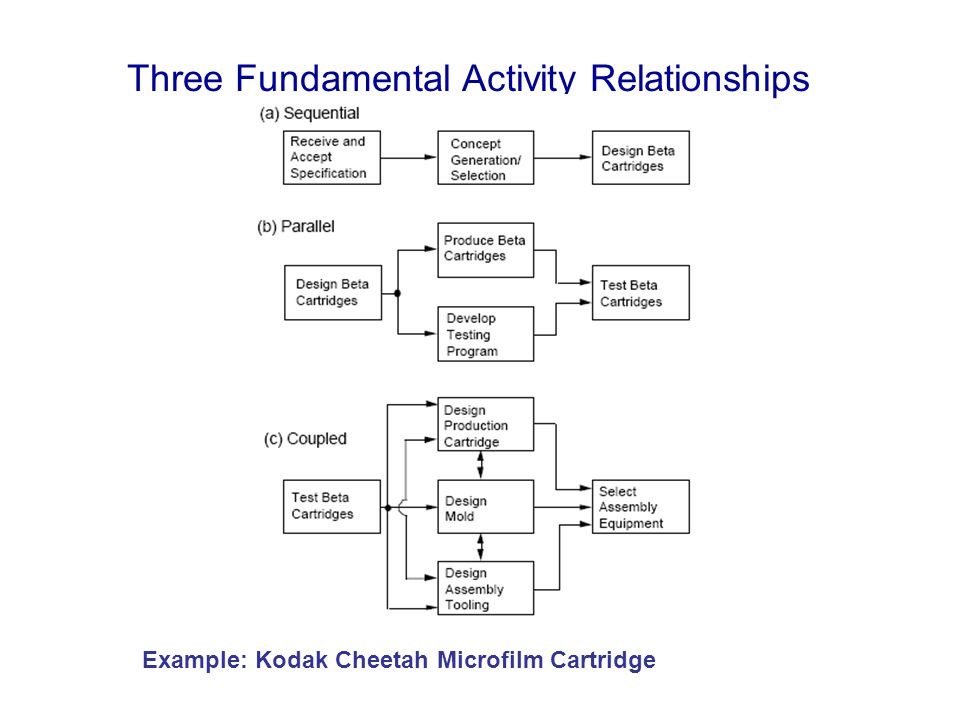 Three Fundamental Activity Relationships