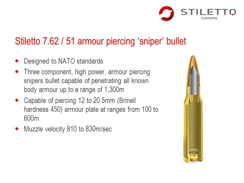 Stiletto 7.62 / 51 armour piercing 'sniper' bullet
