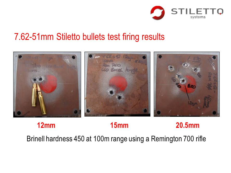 7.62-51mm Stiletto bullets test firing results