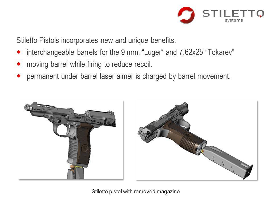 Stiletto Pistols incorporates new and unique benefits: