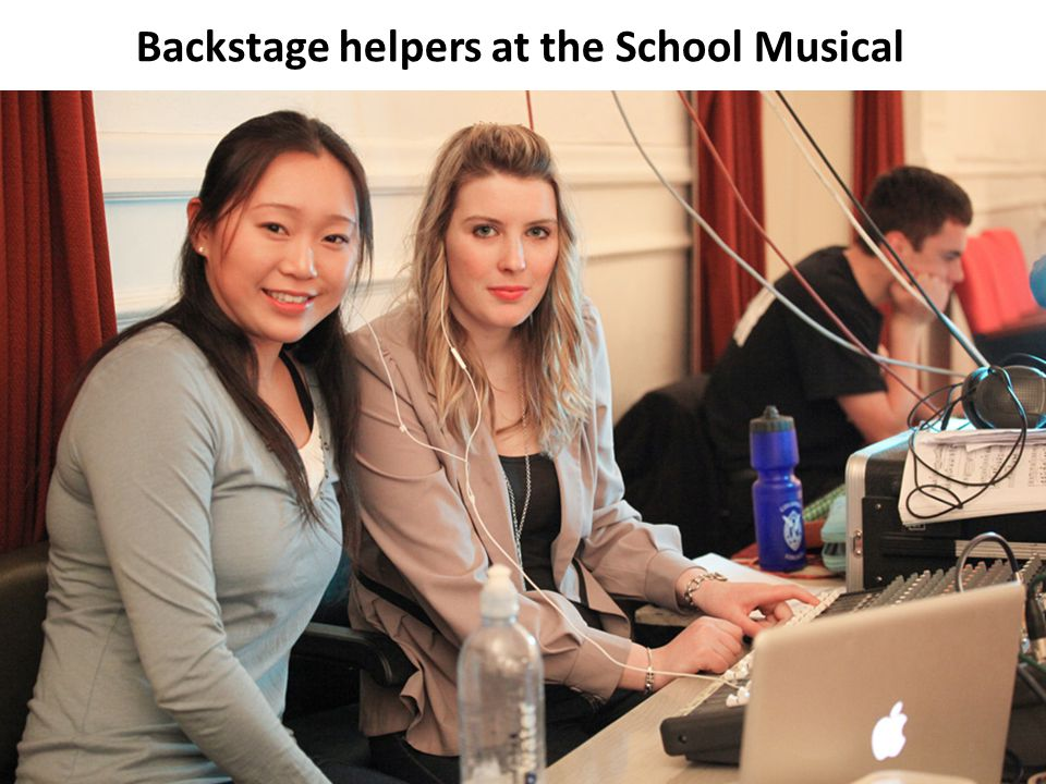 Backstage helpers at the School Musical