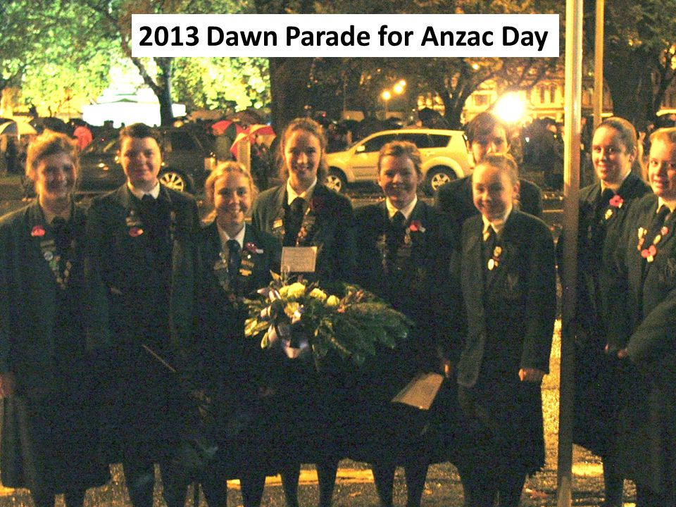2013 Dawn Parade for Anzac Day