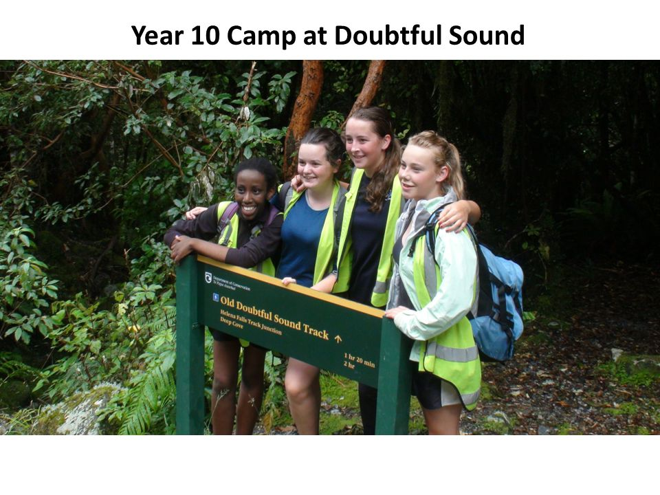 Year 10 Camp at Doubtful Sound