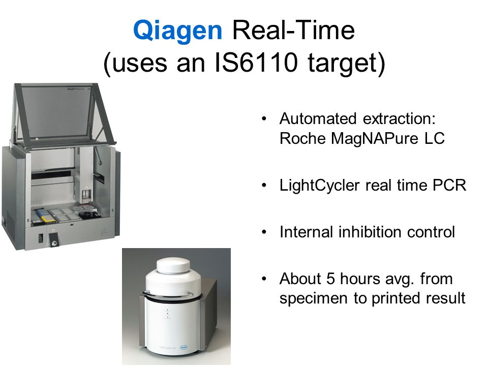 Qiagen Real-Time (uses an IS6110 target)