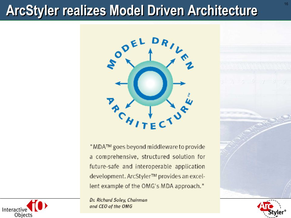 ArcStyler realizes Model Driven Architecture
