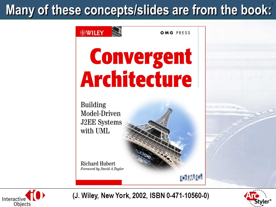 Many of these concepts/slides are from the book: