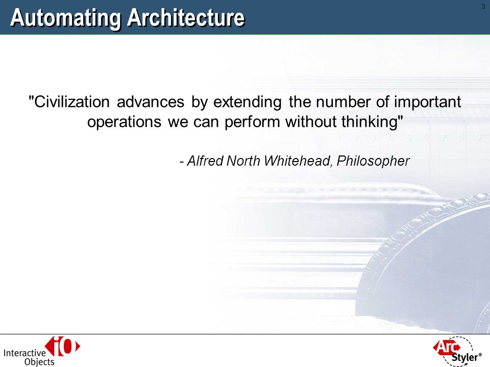 Automating Architecture