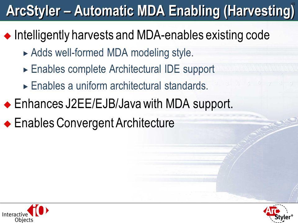 ArcStyler – Automatic MDA Enabling (Harvesting)